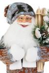 Украшение новогоднее Дед Мороз с лыжами и елочкой