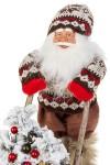 Украшение новогоднее светящееся Дед Мороз на санках