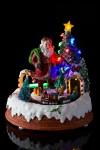 Украшение новогоднее светящ., музык. и двиг. Дед Мороз у елки