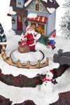 Украшение новогоднее светящееся, музыкальное и двигающееся Мастерская Деда Мороза