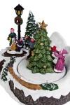 Украшение новогоднее светящееся, музыкальное и двигающееся Дети у елки