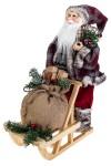 Украшение новогоднее Дед Мороз на санях с подарками и мишкой