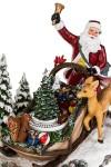 Украшение новогоднее светящеея музыкально-двигающееся Дед Мороз в санях