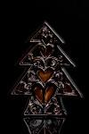 Украшение новогоднее светящееся Елочка с сердцами
