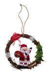 Украшение новогоднее Венок - Дедушка Мороз
