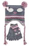 Комплект детский (шапка, перчатки) Совушка