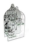Подсвечник для 2-х свечей-таблеток Зеркальная клетка