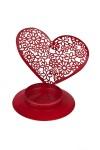 Подсвечник для свечи-таблетки Сердце из цветов