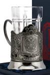 Набор для чая с подстаканником Герб РФ