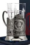 Набор для чая с подстаканником Герб СССР