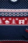Свитер женский Рождество (домики и елки)