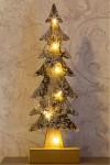 Украшение для интерьера с подсветкой Ель со снежинками