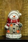 Керамическая фигурка Снеговичок в шарфе