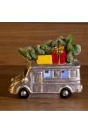 Керамическая фигурка Автобус с елкой
