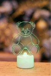 Фигура светодиодная на подставке Мишка