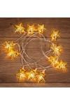 Гирлянда светодиодная на солнечной батарее Звезды