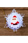 Светодиодная фигурка Дед мороз на снежинке