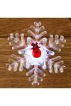 Светодиодная фигурка Олень на снежинке