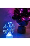 Фигура светодиодная на подставке Снежинка