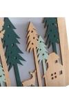 Деревянная фигурка с подсветкой Домик в лесу