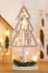 Деревянная фигурка с подсветкой Елка на подставке