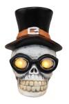 Керамическая фигурка Череп в шляпе