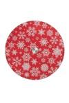 Блюдо вращающееся новогоднее для сервировки стола Снежинки