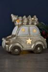 Фигурка декоративная с подсветкой Машина с ёлкой