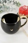 Кружка фарфоровая Чёрная кошка