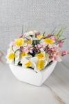 Цветок декоративный в горшке Весенние цветы