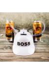 Каска с подставками под банки Boss