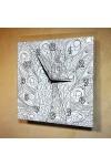 Часы раскраска Павлин