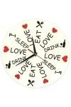 Часы настенные Ешь Спи Люби