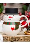 Кружка Снеговик в шляпе