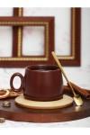 Кружка с деревянным блюдцем Гончарный круг