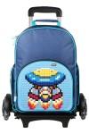 Рюкзак пиксельный на роликах Super Class Rolling Backpack