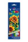 Набор цветных акварельных карандашей 18шт ПОДСОЛНУХИ