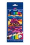 Набор цветных акварельных карандашей 24шт ПЕЙЗАЖ
