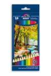 Набор цветных карандашей 24шт ЗОЛОТАЯ ОСЕНЬ