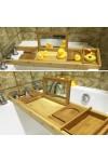 Полка для ванной раздвижная Бамбук