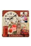 Коллаж-ключница с часами Лондон