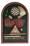 Коллаж Дартс, покер, бильярд