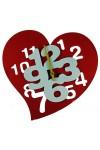 Часы настенные Сердечко
