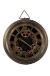 Часы-скелетоны настенные Стимпанк