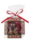 Конфета с предсказанием Человечек из марципана с фундуком в молочном шоколаде