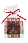 Конфета с предсказанием Человечек из марципана в темном шоколаде