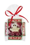 Конфета с предсказанием Человечек из марципана с клюквой в белом шоколаде