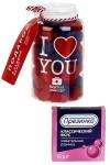 Конфеты Вкусная помощь с жевательной резинкой Я тебя люблю