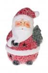 Фигурка светящаяся Дед Мороз с елочкой