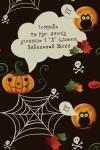 Тетрадь в линейку с косыми линиями с нанесением текста Хэллоуин